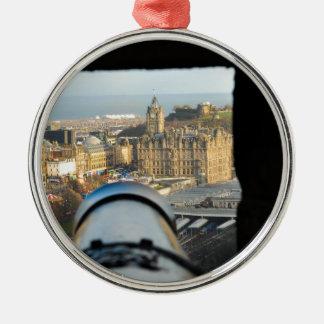 Edinburgh Silver-Colored Round Ornament