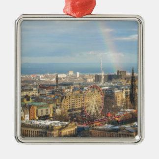Edinburgh Silver-Colored Square Ornament