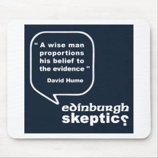 Edinburgh Skeptics - Hume Quote Mouse Pad