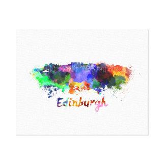 Edinburgh skyline in watercolor canvas print
