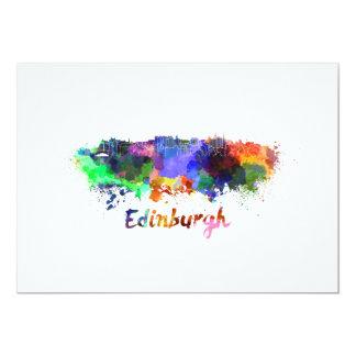Edinburgh skyline in watercolor card