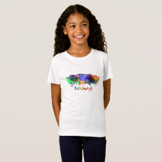 Edinburgh skyline in watercolor T-Shirt