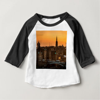 Edinburgh Skyline Sundown Baby T-Shirt