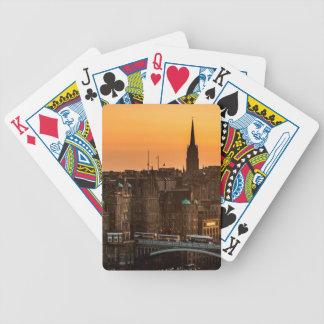 Edinburgh Skyline Sundown Bicycle Playing Cards