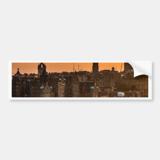 Edinburgh Skyline Sundown Bumper Sticker