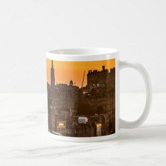 Edinburgh Skyline Sundown Coffee Mug