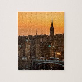 Edinburgh Skyline Sundown Jigsaw Puzzle