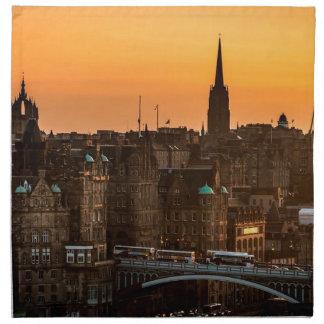 Edinburgh Skyline Sundown Napkin