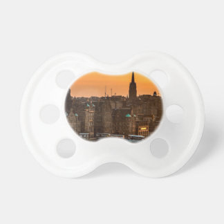 Edinburgh Skyline Sundown Pacifier