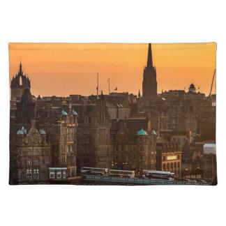 Edinburgh Skyline Sundown Placemat