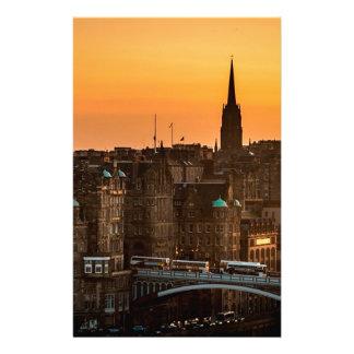 Edinburgh Skyline Sundown Stationery