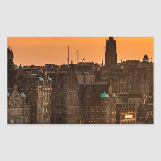 Edinburgh Skyline Sundown Sticker