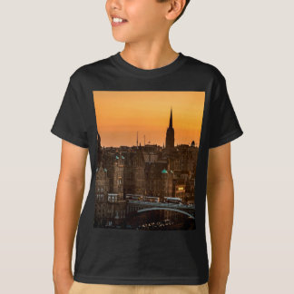 Edinburgh Skyline Sundown T-Shirt