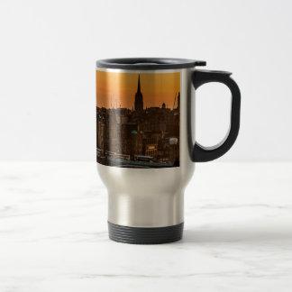 Edinburgh Skyline Sundown Travel Mug