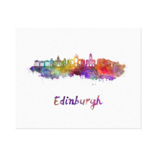 Edinburgh V2 skyline in watercolor Canvas Print