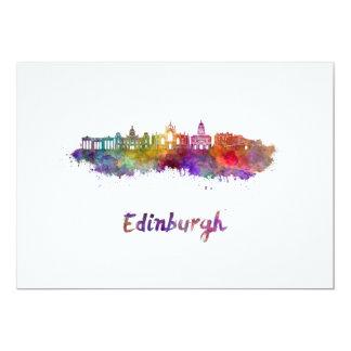 Edinburgh V2 skyline in watercolor Card