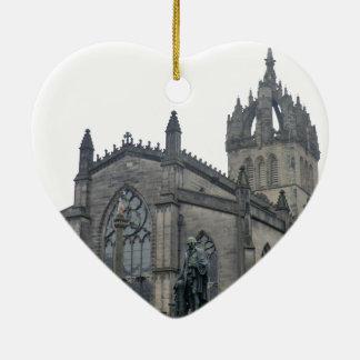 Edinburgh's St Giles Cathedral Ceramic Heart Ornament