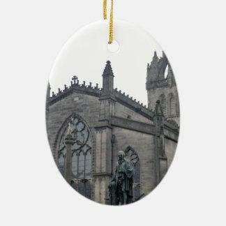 Edinburgh's St Giles Cathedral Ceramic Oval Ornament