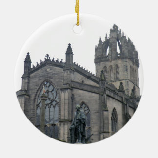 Edinburgh's St Giles Cathedral Round Ceramic Ornament