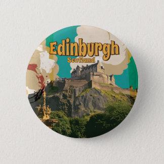 Edingburgh,Scotland Vintage Travel Poster 2 Inch Round Button
