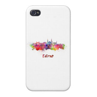 Edirne skyline in watercolor covers for iPhone 4