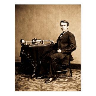 Edison and His Phonograph 1887 Postcard