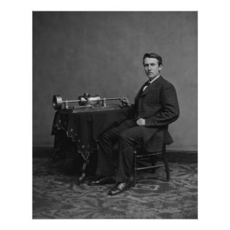 Edison and Phonograph Poster