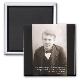 Edison '...another step forward' Quote Magnet