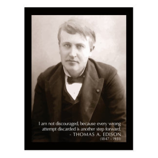 Edison '...another step forward' Quote Postcard