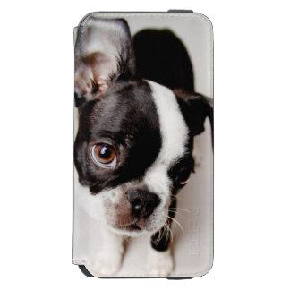 Edison Boston Terrier puppy. Incipio Watson™ iPhone 6 Wallet Case