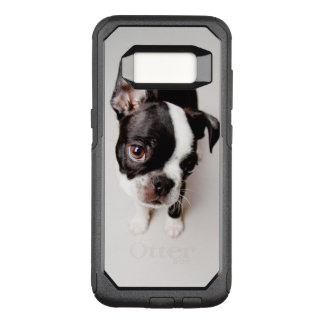 Edison Boston Terrier puppy. OtterBox Commuter Samsung Galaxy S8 Case