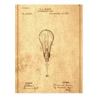 Edison Bulb Patent Postcard