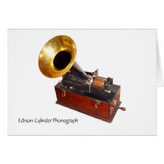 Edison Cylinder Phonograph Card