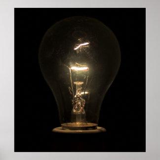 EDISON LIGHT BULB POSTER