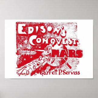 Edison Mars 1898 sci fi Poster
