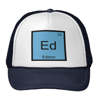 Edison Name Chemistry Element Periodic Table Hats