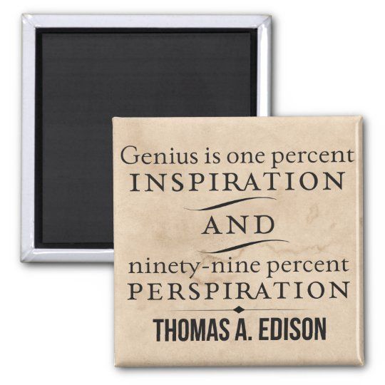 Edison on Genius Motivational/Inspirational Quote Magnet