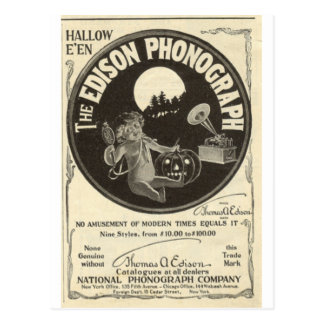 Edison phonograph postcard