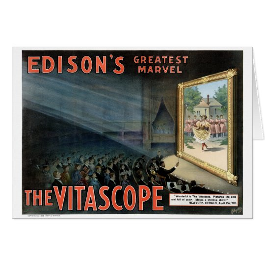 Edison The Vitascope 1896 Restored Vintage Poster Card