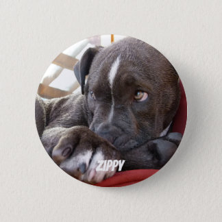 Editable Baby Pitbull Puppies 2 Inch Round Button