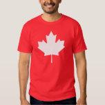 Editable Background Colour, White Canada Maple Tee Shirts