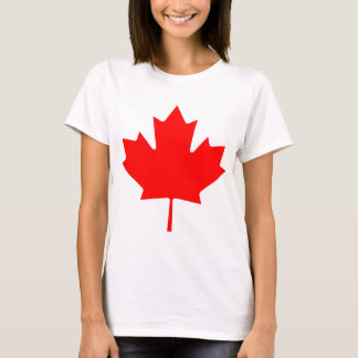 Editable Background Red Canada Maple Leaf Souvenir T-Shirt