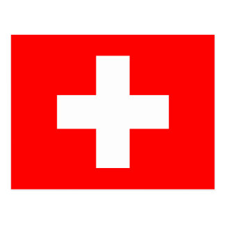 Editable Background The Flag of Switzerland Post Card