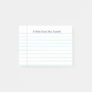 EDITABLE Binder Paper Style Post-it Notes