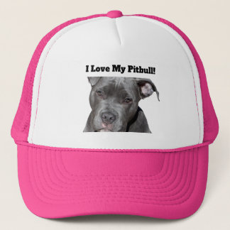 Editable Black Pitbull Trucker Hat