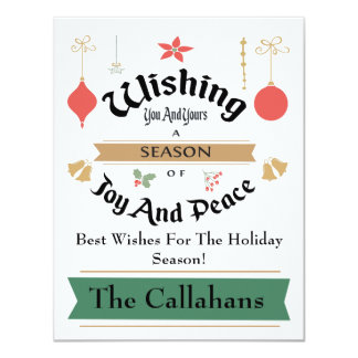 Editable Christmas Card With Best Wishes