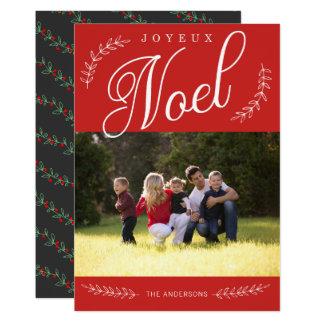 EDITABLE Color Joyeux Noel Christmas Photo Card