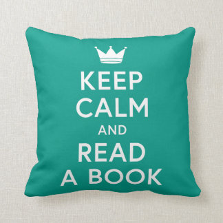 Editable Color Keep Calm and Read a Book Bookish Throw Pillow