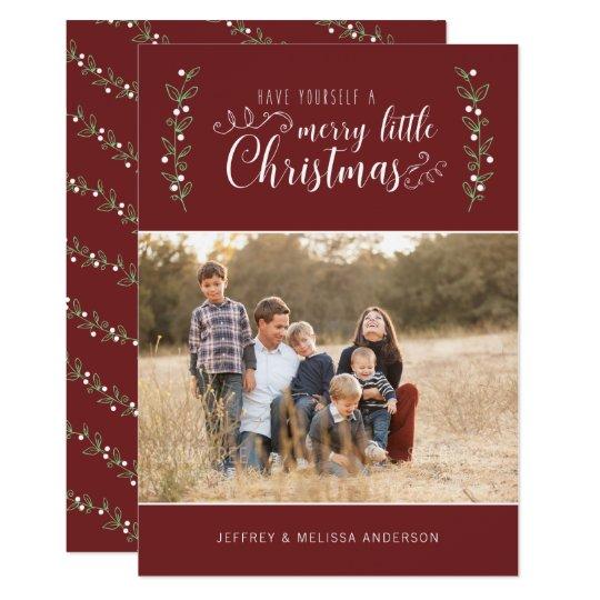 EDITABLE Colour Merry Berries | Merry Christmas Card