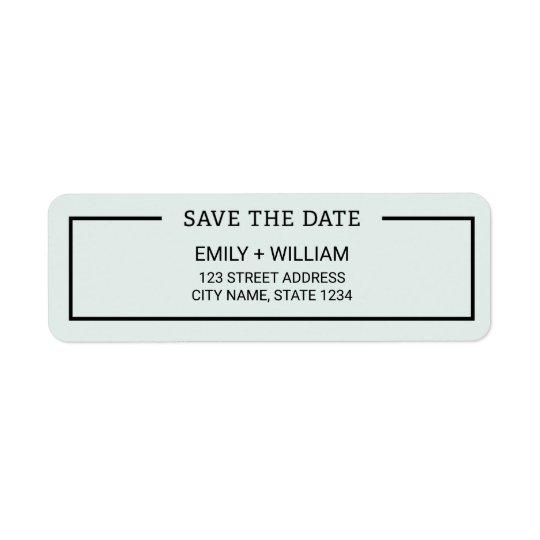 Editable Colour Minimalist Save the Date